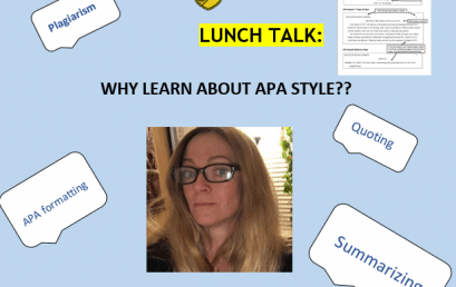 Lunch Talk: Why Learn About APA Style?