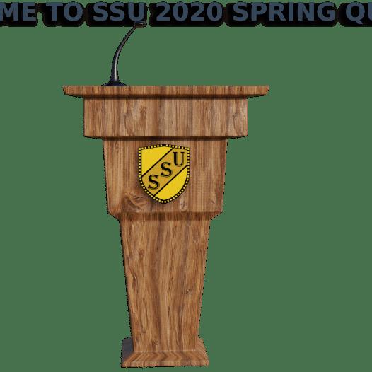 Welcome to SSU 2020 Spring Quarter