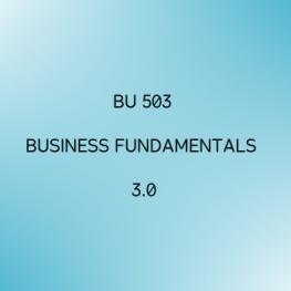 Business Fundamentals 3.0