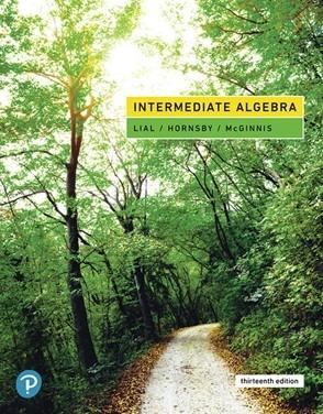 MTH 125: College Algebra