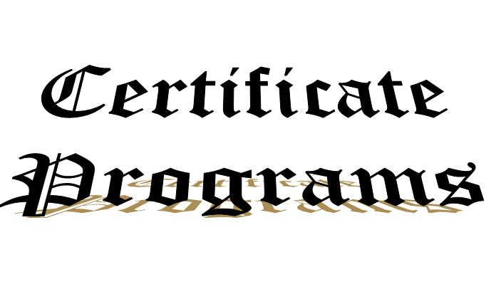 Certificates Programs Picture