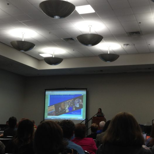 Attending a conference about online teaching