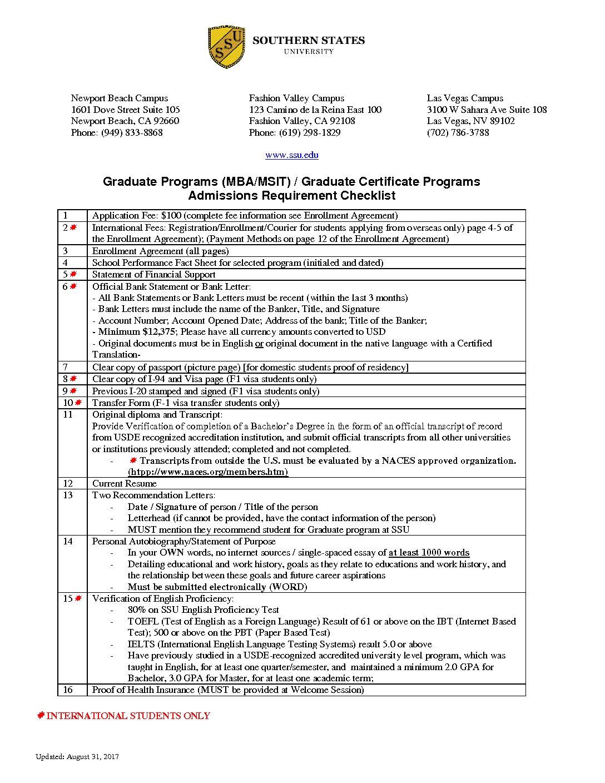 Ssu graduate program checklist 08 31 2017 southern states ssu graduate program checklist 08 31 2017 xflitez Image collections