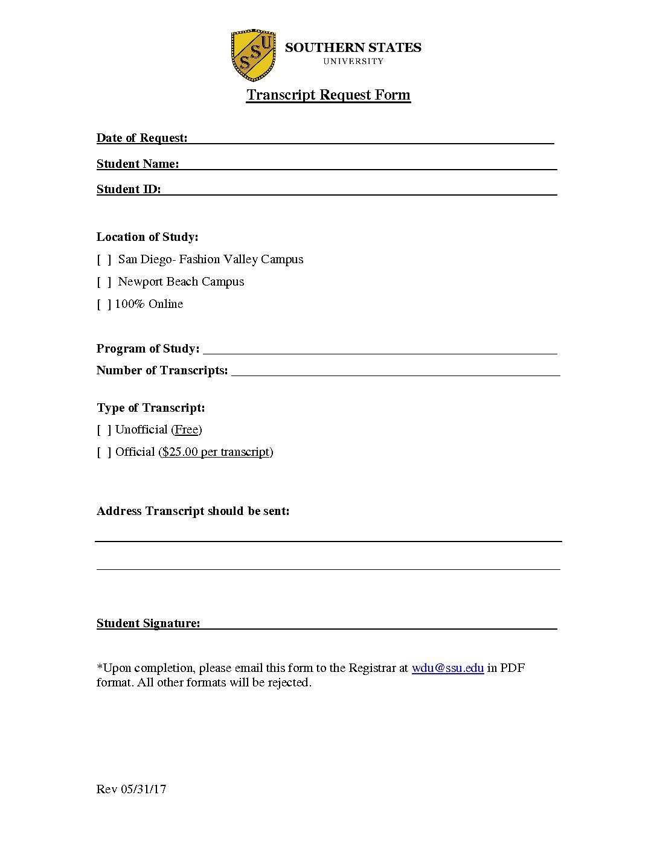Marvelous Transcript Request Form (2)