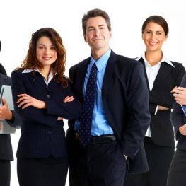 Business Man and Woman Image