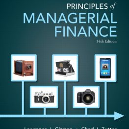 Principles of managerial finance 14th edition Book Image