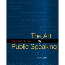 The Art of Public Speaking Book Image